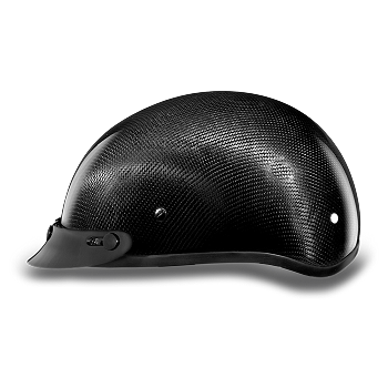 DOT Carbon Fiber Motorcycle Half Helmet with Visor