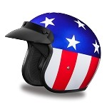 DOT Captain America 3/4 Open Face Motorcycle Helmet