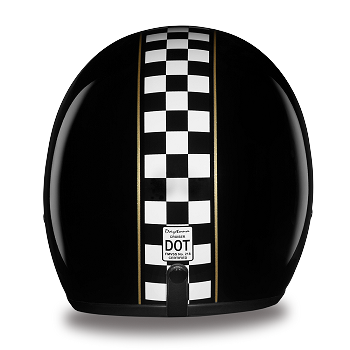 DOT Checkered Flag 3/4 Open Face Motorcycle Helmet
