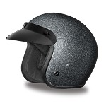 DOT Gray Metal Flake 3/4 Open Face Motorcycle Helmet