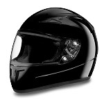 DOT Gloss Black Vented Full Face Motorcycle Helmet