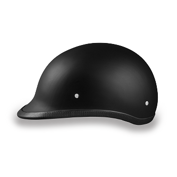 DOT Dull Black Polo Style Motorcycle Helmet