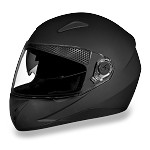 DOT Flat Black Dual Visor Full Face Motorcycle Helmet
