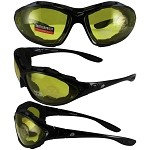 Motorcycle Sunglasses Goggles Yellow Lenses