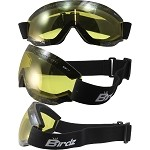 Padded Motorcycle Goggles Yellow Lens