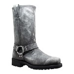 Men's Side Zipper Stone Wash Leather Boots