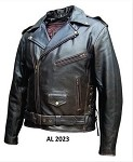 Men's Retro Brown Leather Motorcycle Jacket