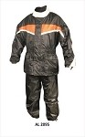 Men's Orange & Black Motorcycle Rain Suit