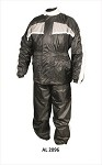 Men's Grey & Black Motorcycle Rain Suit