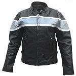 Ladies Silver Two Toned Leather Jacket
