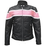Ladies Pink Two Toned Leather Jacket