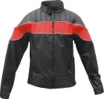 Womens Red & Black Water Resistant Jacket