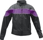 Womens Purple & Black Water Resistant Jacket