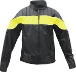 Womens Yellow & Black Water Resistant Jacket