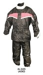 Ladies Pink & Black Motorcycle Rain Suit