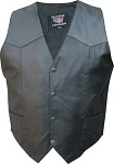Men's Lightweight Leather Vest