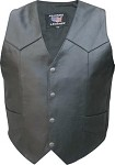 Men's Leather Motorcycle Vest - Big Sizes Available