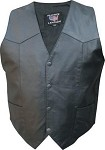 Men's Basic Plain Leather Vest