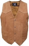 Men's Basic Brown Leather Vest