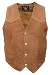 Ladies Plain Brown Leather Vest