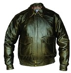 Men's Retro Brown Leather Bomber Jacket