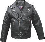 Kids Leather Motorcycle Jacket