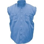 Men's Royal Blue Sleeveless Shirt