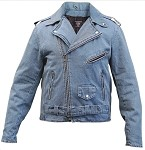 Men's Blue Denim Motorcycle Jacket