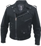 Men's Black Denim Motorcycle Jacket