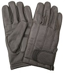 Full Finger Lined Leather Gloves with Velcro Closure