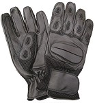Leather Gloves Vented with Gel Palm
