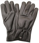 Leather Gloves with Elastic Snap Wrist
