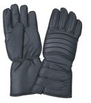 Padded Leather Gloves with Velcro Cuffs