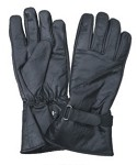 Lightly Lined Leather Gloves with Velcro Strap