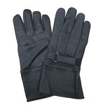 Fleece Lined Leather Gloves with Velcro Cuff