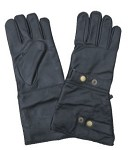 Lined Leather Gloves with Snap Closure
