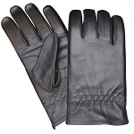 Unlined Leather Motorcycle Riding Gloves