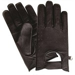 Unlined Vented Leather Motorcycle Riding Gloves
