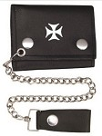 Tri-fold Chain Wallet with Chopper Cross