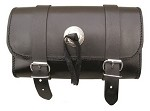 Plain Leather Motorcycle Tool Bag with Concho