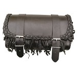 Fringe Leather Motorcycle Tool Bag 9-1/2 inch