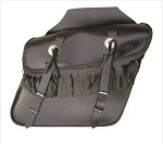 Medium Fringe Throw-Over Leather Saddlebags
