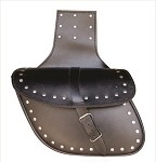 Medium Studded Leather Throw Over Saddlebags