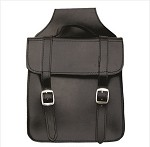 Square Plain Leather Throw Over Saddlebags