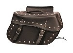 Large Studded Throw Over PVC Motorcycle Saddlebags