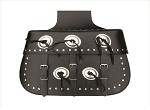 Studded Throw Over Motorcycle Saddlebags with Conchos