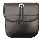 Laced Leather Motorcycle Sissy Bar Bag with Concho