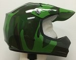 Youth Green Camo DOT ATV Dirt Bike MX Helmet