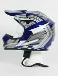 Youth Blue Grey DOT ATV Dirt Bike MX Helmet