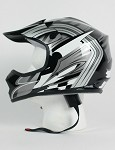 Youth Black Grey DOT ATV Dirt Bike MX Helmet